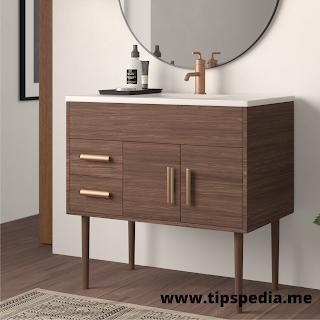 modern bathroom sink cabinets