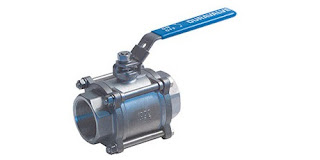 three piece industrial ball valve