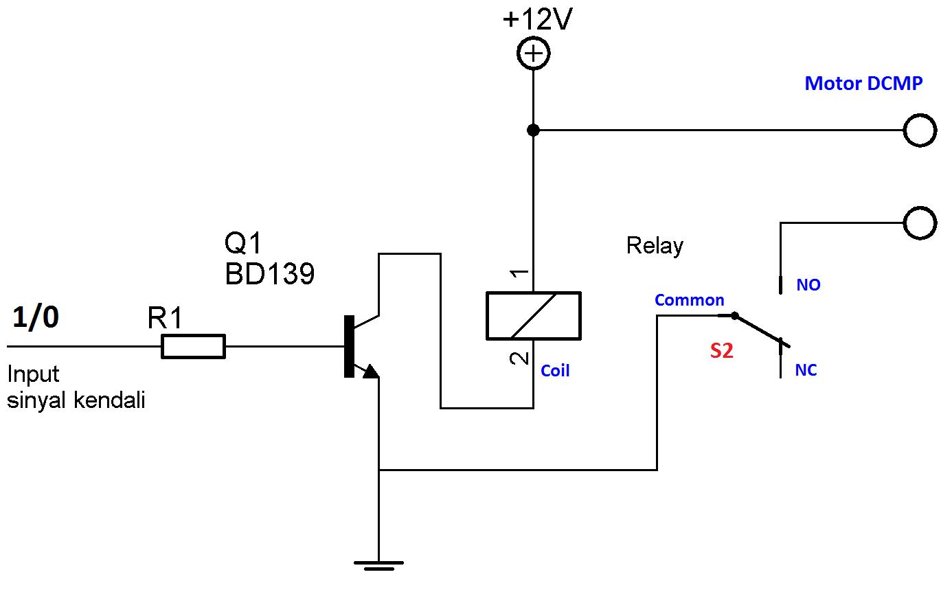 rangkaian motor dc