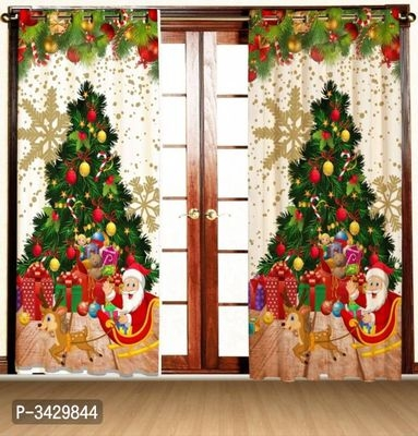 Christmas Printed Door Curtain