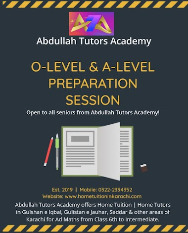 Abdullah Tutors Academy offering Home Tuition for Ad Maths in Gulshan Town, Sindh Baloch Cooperative Housing Society, Karachi