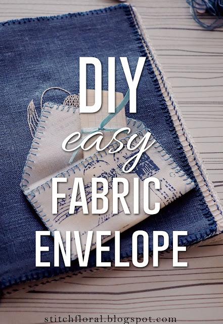 easy fabric envelope tutorial