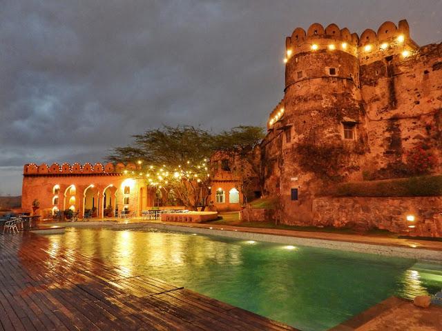 Heritage Fort Hotel on the Delhi Jaipur Highway