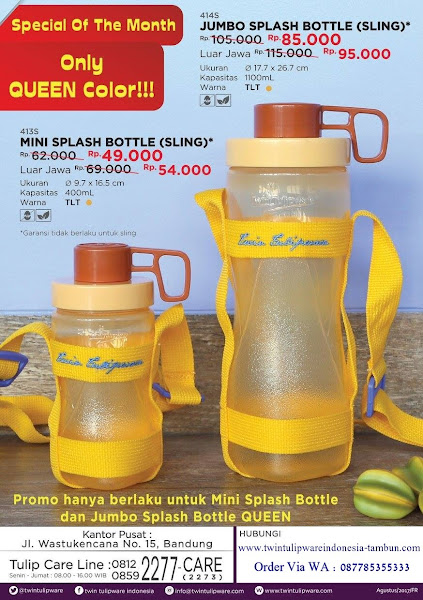Special Price : Mini Splash Bottle, Jumbo Splash Bottle September 2017