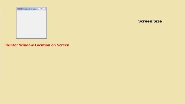 Tkinter Window Location Setting in Python