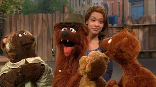 Baby Bear, Curly Bear, Mama Bear, Papa Bear, Gabi, Sesame Street Episode 4416 Baby Bear's New Sitter season 44