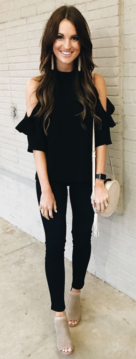 all black everything and nude details