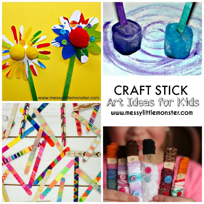 20+ of the best craft stick (lollipop stick / popsicle stick)  art idea for kids.