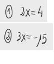2. Ecuación de primer grado simple - producto