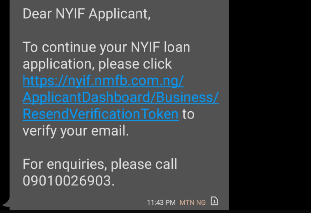 Check Your Mobile Message NYIF Are Sending Text
