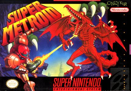 Super Metroid NA Box Cover Art