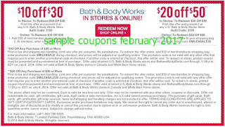 Bath And Body Works coupons for february 2017