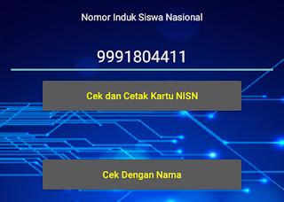 cek dan cetak kartu NISN