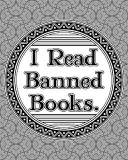 I read banned books mini poster