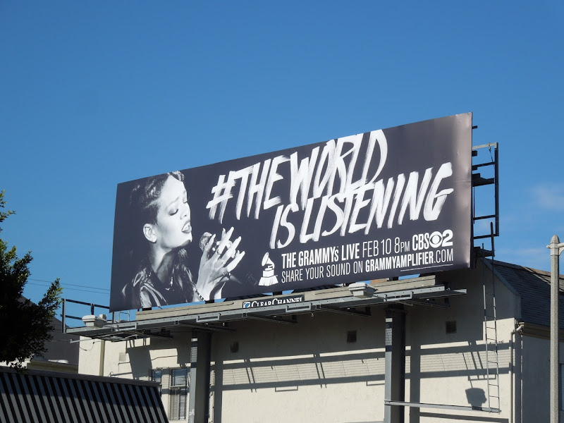 Rihanna 55th Grammy Awards billboard