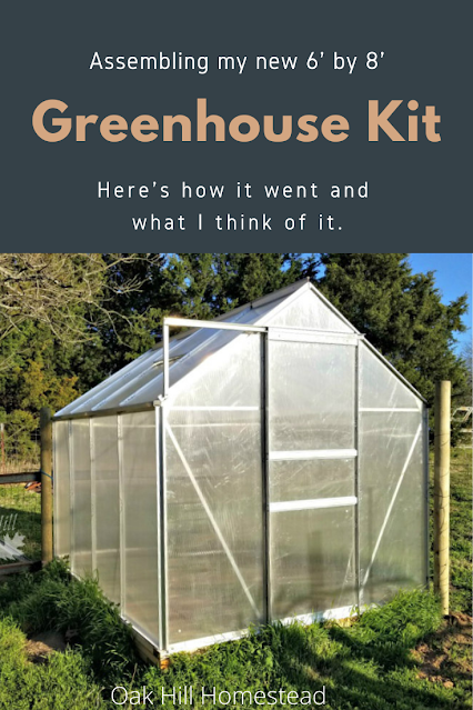 A review of the 6'x8' greenhouse from Harbor Freight.