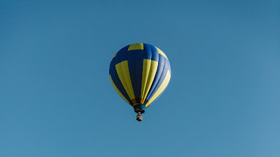 Air balloons, colorful, sky blue, flight