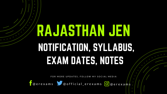 Rajasthan JE 2020 - Notification, Syllabus, Exam Dates, Notes - ErExams - Engineering Exams Guidance RSS Feed  IMAGES, GIF, ANIMATED GIF, WALLPAPER, STICKER FOR WHATSAPP & FACEBOOK