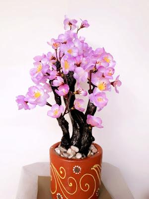 Gambar Bonsai Sakura Plastik
