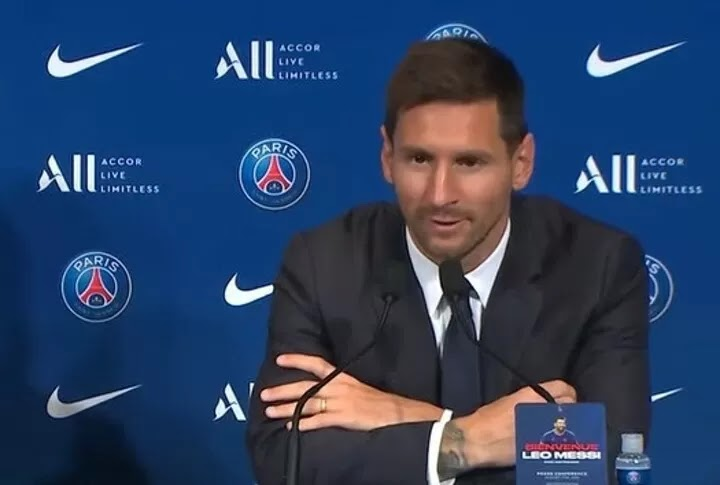 Messi on joining PSG: I'm very happy to come here