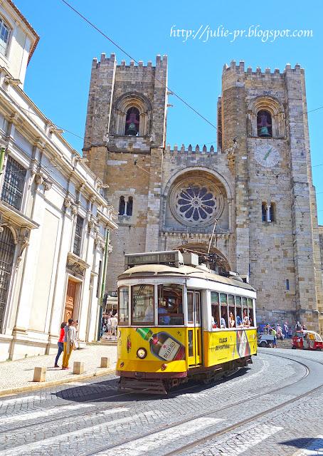 Лиссабон, трамвай, желтый лиссабонский трамвай, Lisboa tram