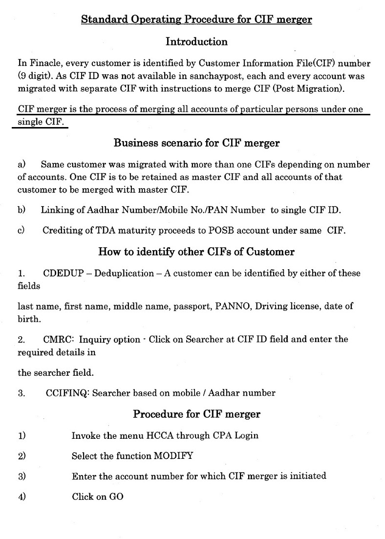 merger of multiple cif