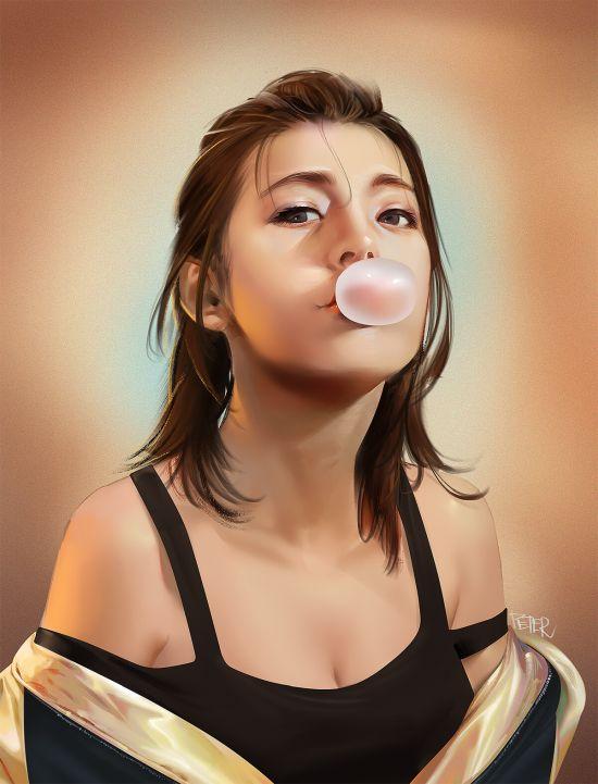 Peter Xiao artstation arte ilustrações pinturas digitais retratos femininos mulheres beleza