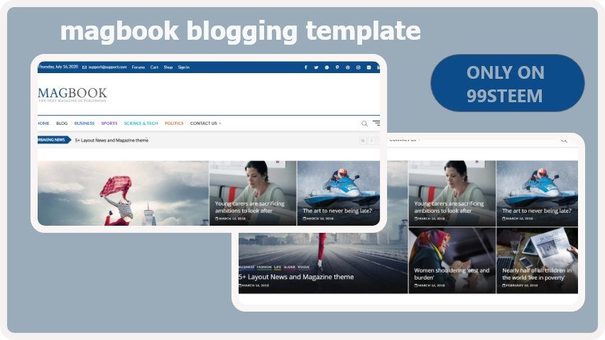 Magbook blogger template