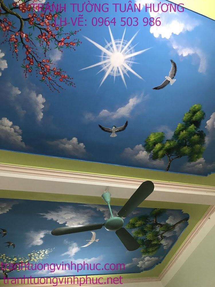 mẫu trần mây 3d tại phúc yên vĩnh phúc