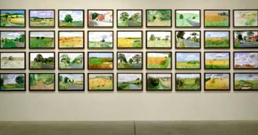David Hockney Paints Art News Magazine Archives