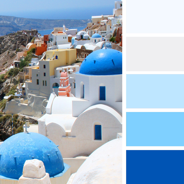 How to Choose a Color Scheme decorating with blue and white