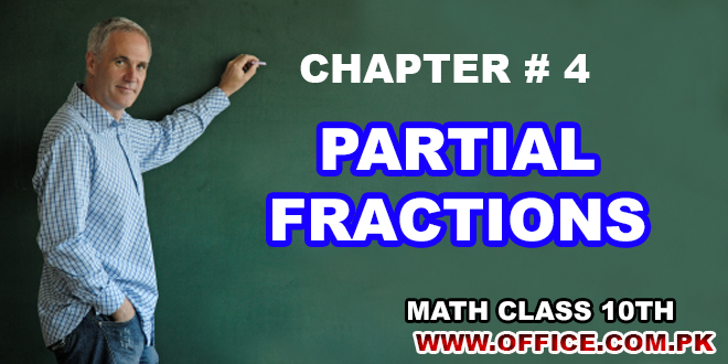ch 4 partial fractions math pdf class 10th notes matric ssc tutorials