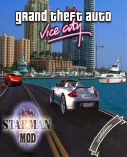 Grand Theft Auto Vice City Starman MOD Cover, Poster