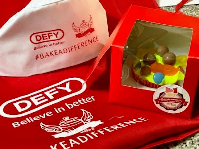 Defy apron and pet and cupcake for Cupcakes of Hope