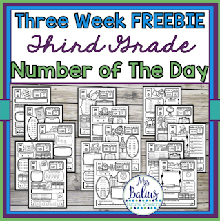 three weeks of number of the day for third grade for free