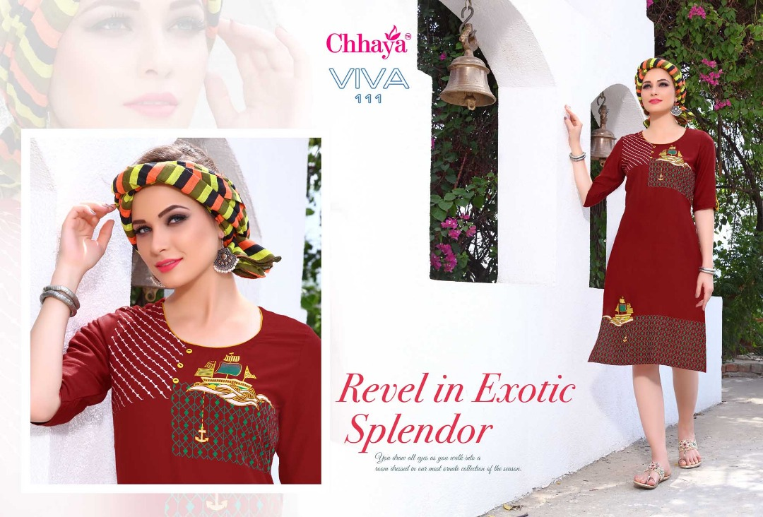 Chhaya-Viva-New Arrival Designer Rayon Kurti only 399