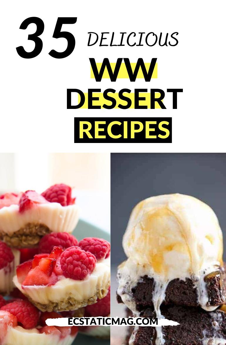 Easy Weight Watchers Dessert Recipes