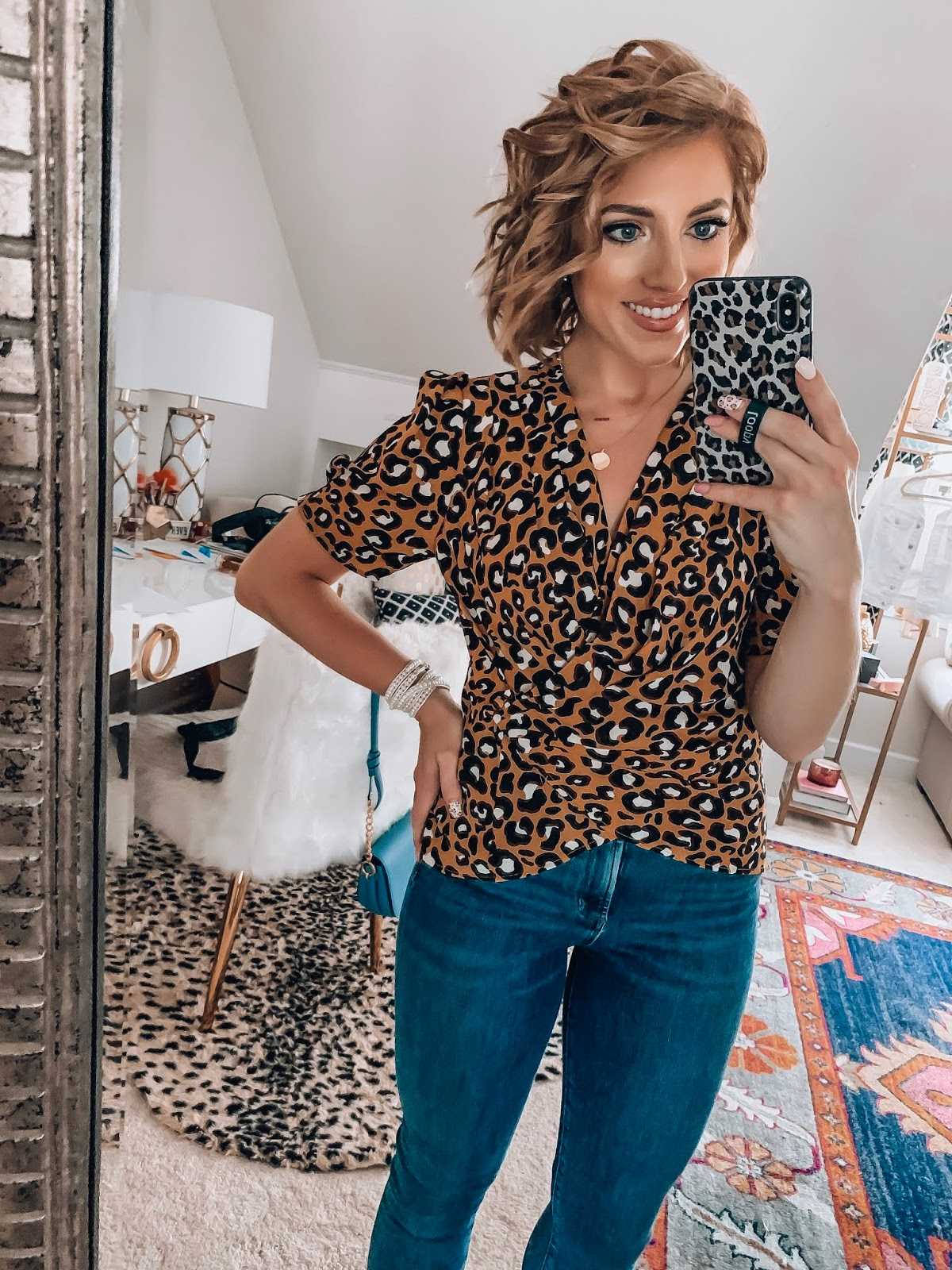 Target Fall Finds: Part One - Under $30 Leopard Wrap Top - Something Delightful Blog