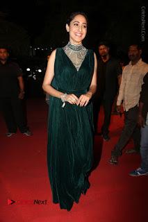 Actress Pragya Jaiswal Stills in Green Long Dress at Gemini TV Puraskaralu 2016 Event  0108.JPG