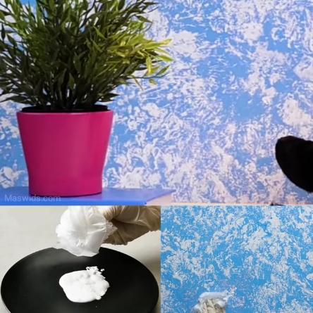 dekorasi warna cat dinding plastik