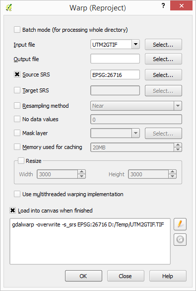 dominoc925: Resampling a single GeoTiff image in QGIS