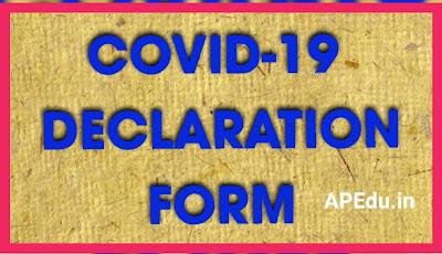 COVID-19 DECLARATION FORM