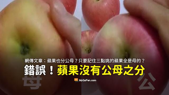 蘋果也分公母 記住這三點 挑的全是母的 謠言 內容農場