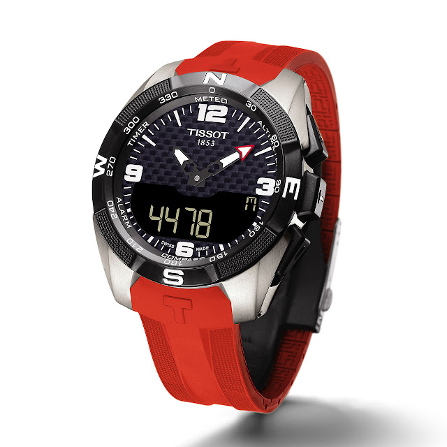 Tissot T-Touch Expert Solar Watch red rubber