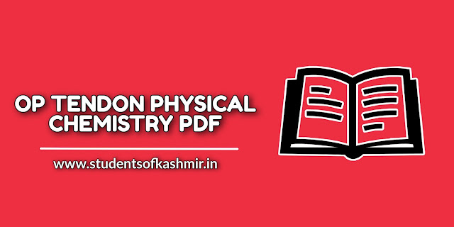 OP TENDON Physical chemistry pdf