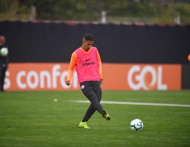 Pedro Henrique em treino no Inter (Foto: Reprodução)