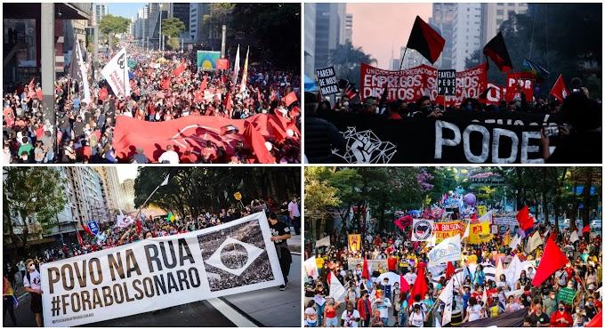 Atos 24J contra Bolsonaro reúnem 600 mil pessoas em 509 atos no Brasil e no exterior