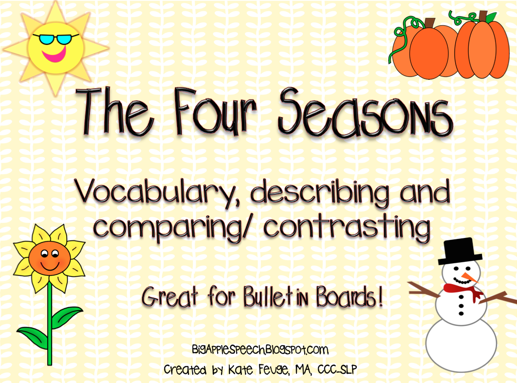Big Apple Speech Flash Freebie The Four Seasons