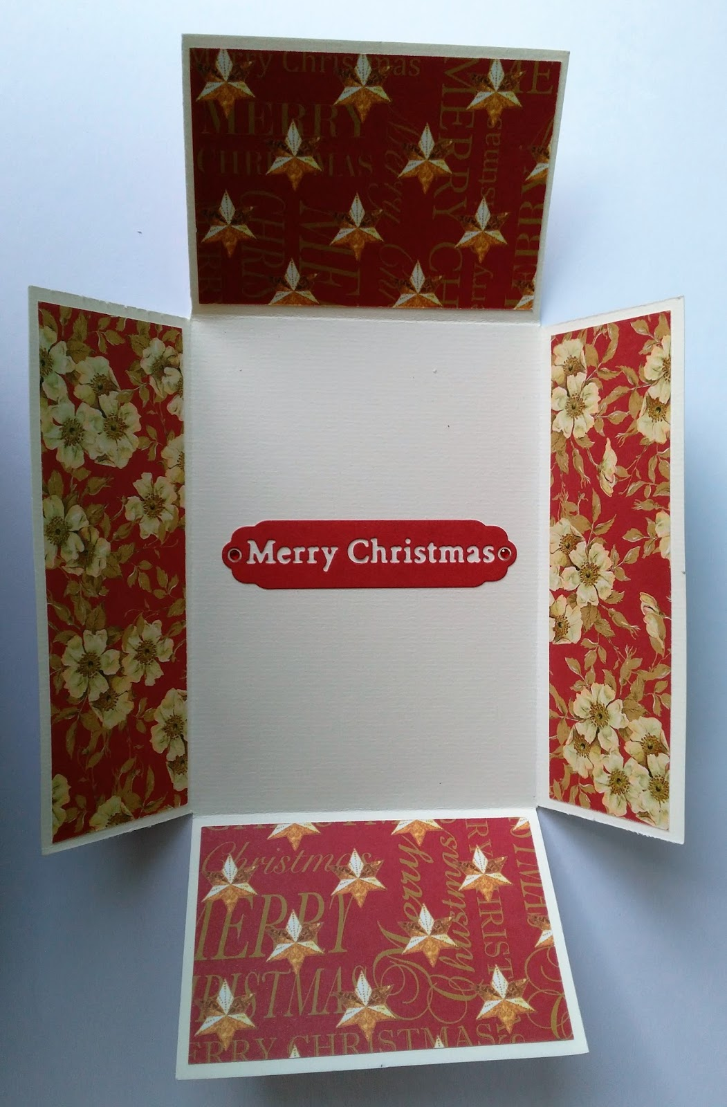 To Make This Card, All You Need Is A Sheet Of A4 Card. 1) Fold Both Sides  Into The Middle To Make A Long Skinny Gatefold Card.