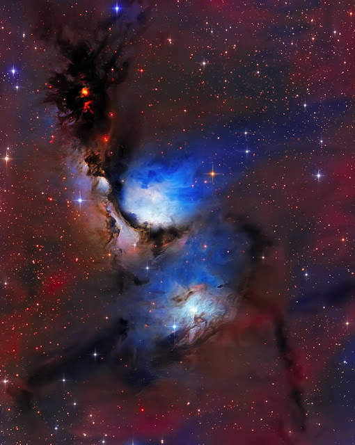 Messier 78 reflection nebula located in the constellation Orion imaged on ATEO-1 and processed by Utkarsh Mishra. Image set now available for download on Starbase.